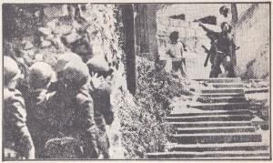 قوات القمع أثناء عملياتها في الناصرة