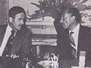 لقاء الرئيسين أنوار السادات وحافظ الأسد