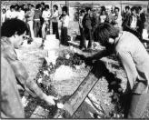 The Kafr Kassem massacre's twentieth anniversary, Oct. 29, 1976.