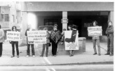 Protesting the settlement in Hebron, April 12, 1981