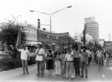 Matzpen's block in the May 1st demonstration, Tel Aviv 1979